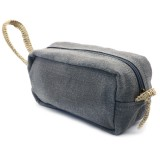 The Dharma Door Jute Canvas Toiletry Bag Small - Ash