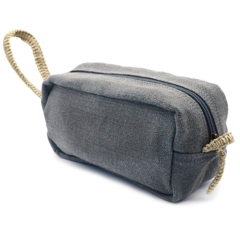 Dharma Door Jute Canvas Toiletry Bag Small Ash