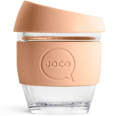 JOCO Glass Reusable Coffee Cup 118ml 4oz - Amberlight