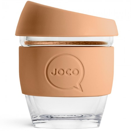 JOCO Glass Reusable Coffee Cup 118ml 4oz - Butterrum