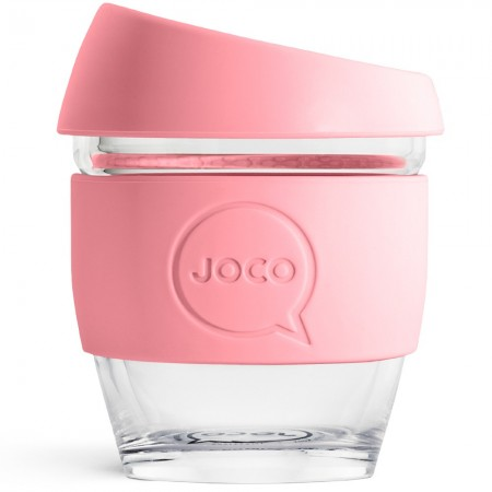 Joco Glass Reusable Glass Cup 118ml 4oz - Strawberry