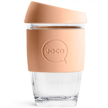 JOCO Glass Reusable Coffee Cup 177ml 6oz - Amberlight