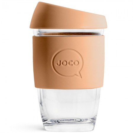 JOCO Glass Reusable Coffee Cup 177ml 6oz - Butterrum LAST CHANCE!