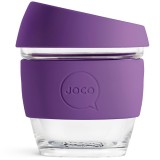 JOCO Small Glass Coffee Cup 236ml 8oz - Violet