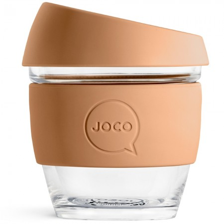 JOCO Small Glass Coffee Cup 236ml 8oz - Butterrum