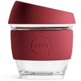 JOCO Small Glass Coffee Cup 235ml 8oz - Ruby Wine