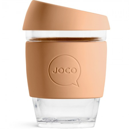 JOCO Medium Glass Coffee Cup 354ml 12oz - Butterrum