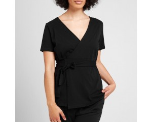 Dorsu Wrap Top Black