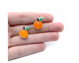 Kylie Johnson Orange Earrings