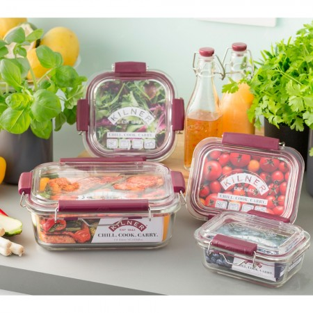 Kilner Fresh Storage Glass Container and Lid 1.4L