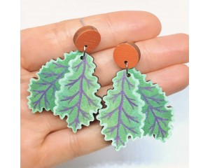 Pixie Nut Kale Earrings