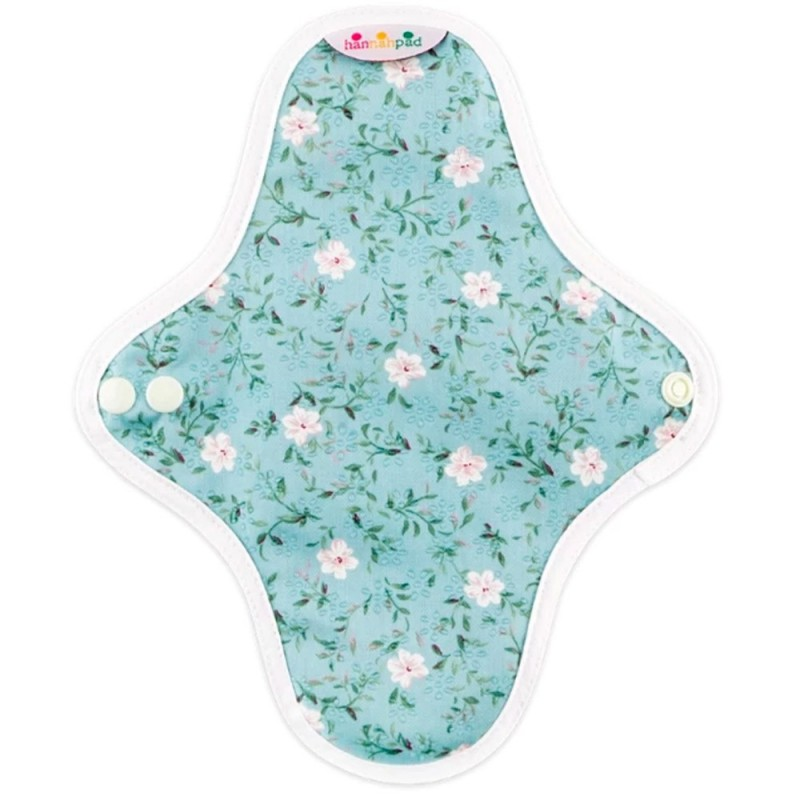 Hannahpad Panty Liner 2pk - Edelweiss Blue with grip