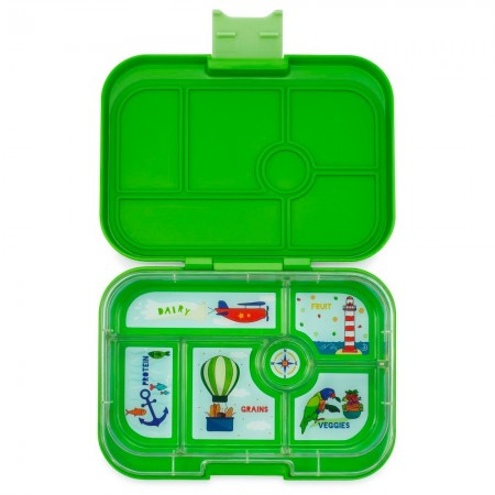Yumbox Lunch Box - Original 6 Compartment Cilantro Green