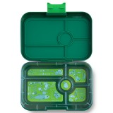 YumBox Tapas Lunch Box 5 Compartment - Brooklyn Green