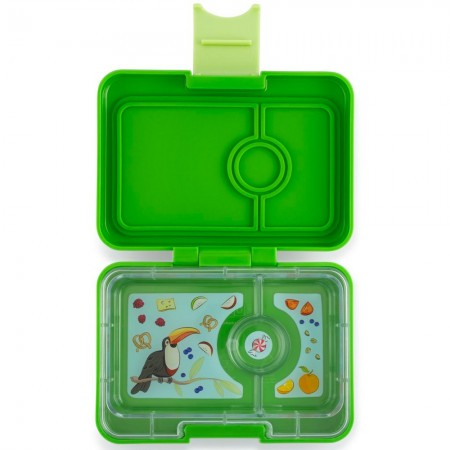 Yumbox MiniSnack 3 Compartment - Cilantro Green