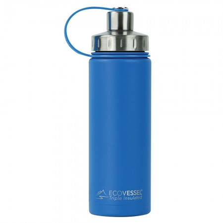 EcoVessel Boulder Insulated Bottle 600ml - Hudson Blue