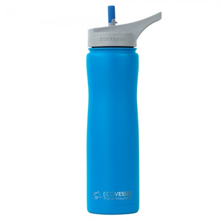 EcoVessel Summit Insulated Water Bottle 700ml - Hudson Blue