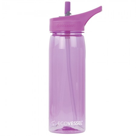 EcoVessel Tritan Water Bottle 750ml - Peony Pink