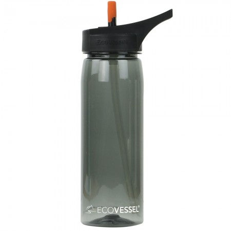 EcoVessel Tritan Water Bottle 750ml - Black Shadow