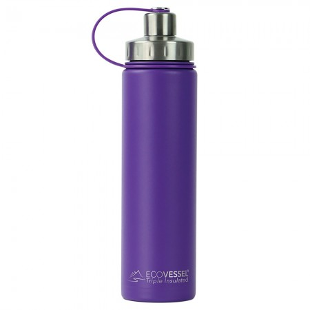 EcoVessel Boulder Insulated Bottle 700ml - Purple Haze