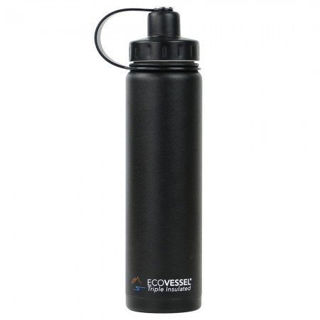 EcoVessel Boulder Insulated Bottle 700ml - Black Shadow