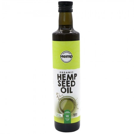 Hemp Foods Organic Cold Pressed Hemp Seed Oil 500ml