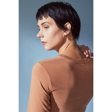 Kowtow Long Sleeve Tee Clay