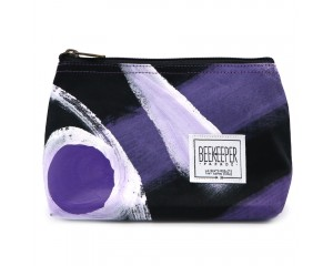 Beekeeper Parade Makeup Bag Small Purple Painted