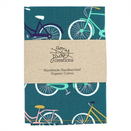 Organic Cotton Handkerchief - Bike Ride