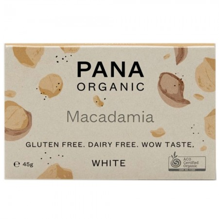 Pana White Chocolate Macadamia 45g
