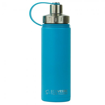 EcoVessel Boulder Insulated Bottle 600ml - Teal Lagoon