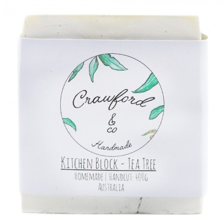 Crawford & Co Kitchen Soap Block 400g - Tea Tree