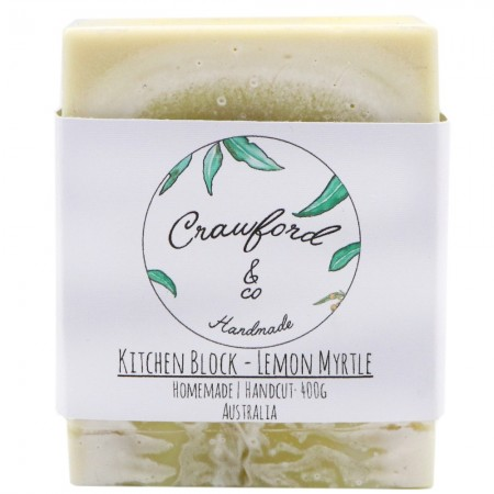 Crawford & Co Kitchen Soap Block 400g - Lemon Myrtle