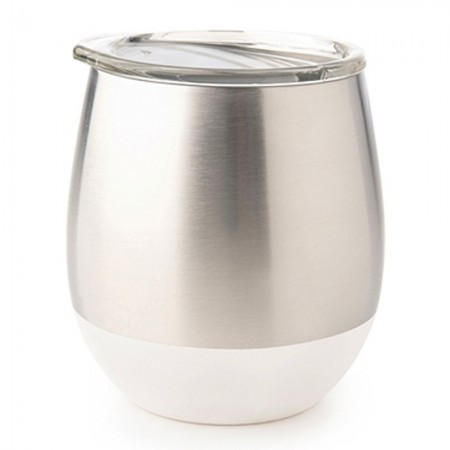 U Konserve Insulated Stainless Steel Wine Tumbler 8oz 236ml - White