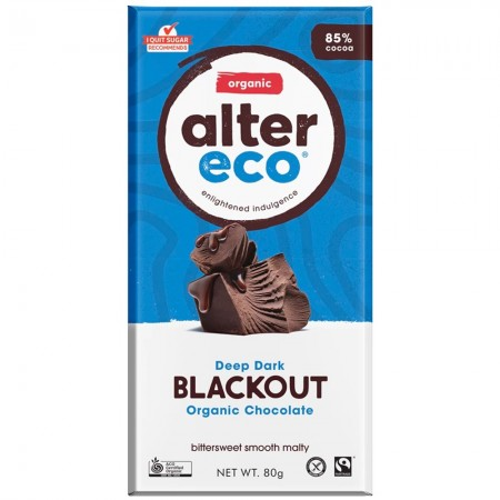 Alter Eco Vegan Organic Chocolate - Dark Blackout 80g