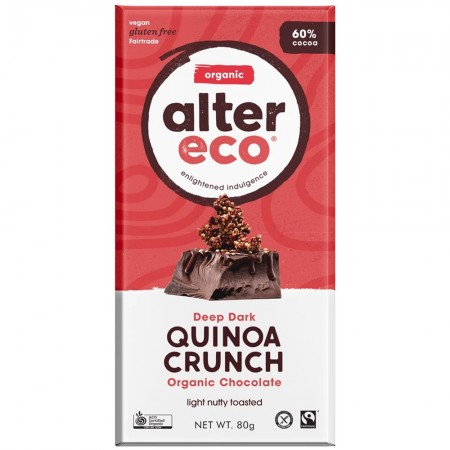 Alter Eco Vegan Organic Chocolate 80g - Dark Quinoa