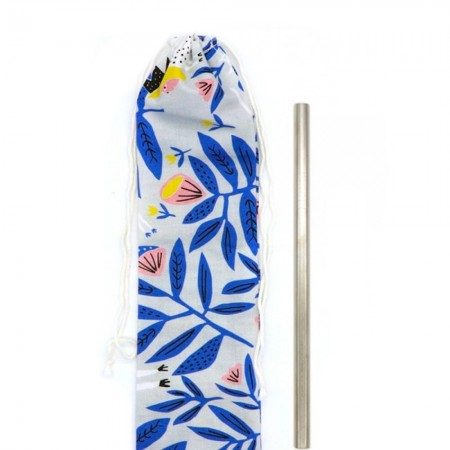 Organic Cotton Straw Pouch - King of Beasts