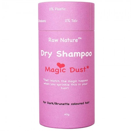 Raw Nature Dry Shampoo 60g- Magic Dust (Dark Hair)