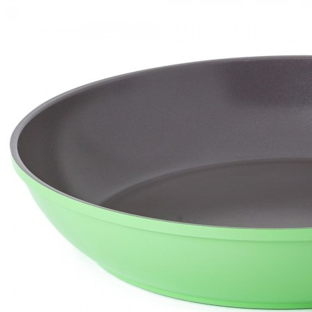 Nature+ Neoflam 28cm non stick fry pan - lime