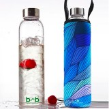 BBBYO Glass Bottle Carry Cover 750ml - Tide