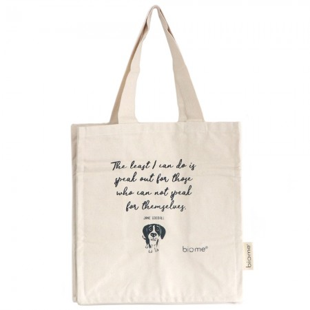 Biome Organic Cotton Canvas Tote Bag - Jane Goodall