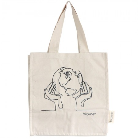 Biome Organic Cotton Canvas Tote Bag - World in Our Hands