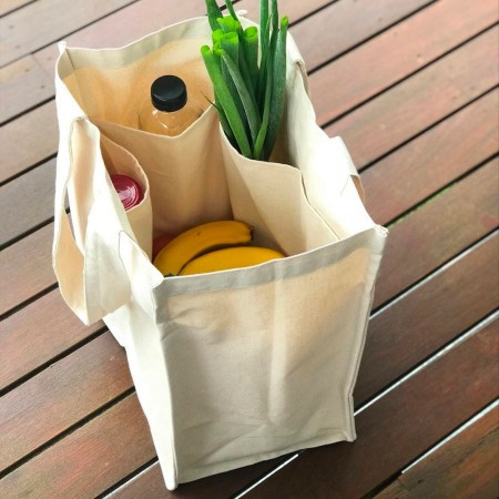 Biome Cotton Canvas Tote Bag World in Our Hands