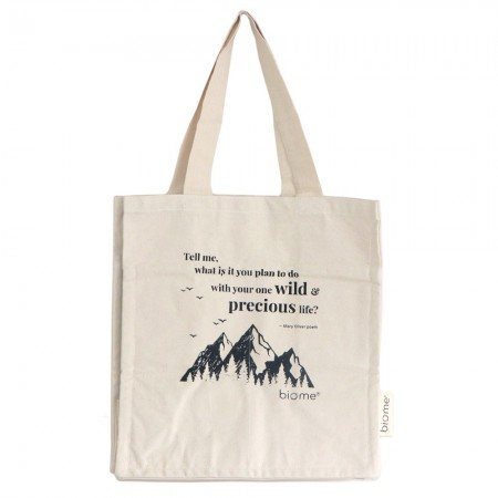 Biome Organic Cotton Canvas Tote Bag - Precious Life