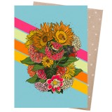 Earth Greetings Card - Rainbow Bouquet
