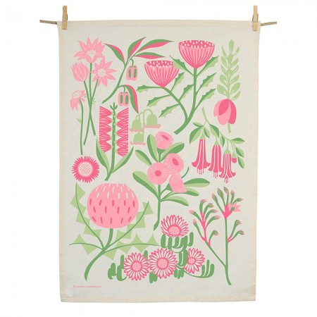 Earth Greetings Organic Cotton Tea Towel - Bountiful Land