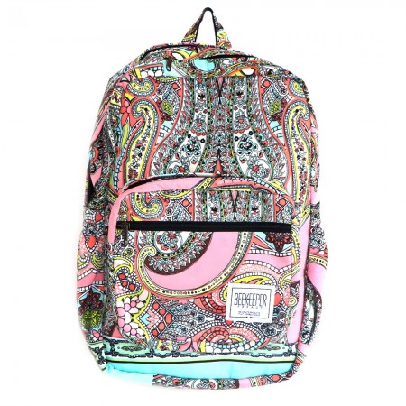 Beekeeper Parade Royal Backpack Pink Floral Paisley