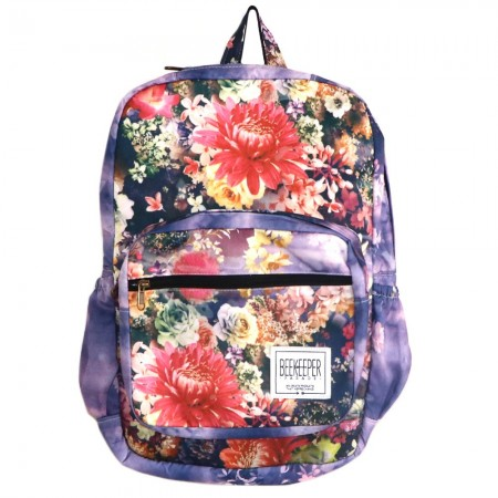 Beekeeper Parade Royal Backpack Lilac Floral Explosion