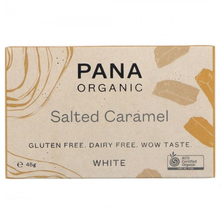 Pana Organic Vegan White Chocolate 45g - Salted Caramel