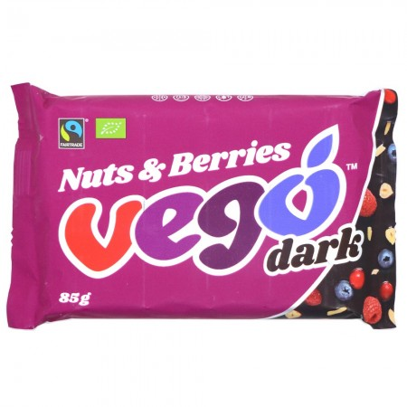 VEGO Nuts & Berries Dark Chocolate Bar 85g
